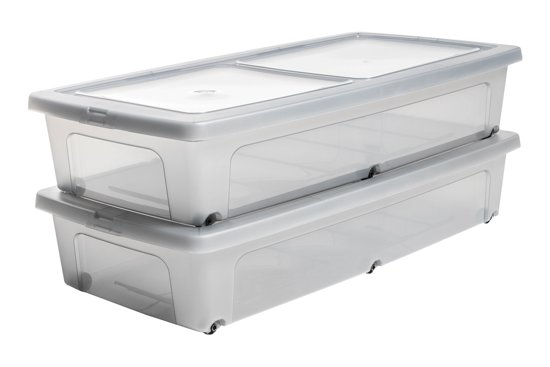 bol.com   IRIS Clearbox onder-het-bed Opbergbox - 35L ...