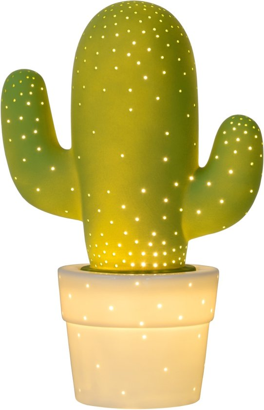 Lucide CACTUS - Tafellamp - Ø 20 cm - Groen