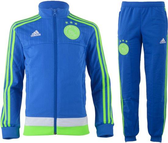 1245288a39f adidas Ajax Uit - Trainingspak - Kinderen - Maat 152 - Blauw/Groen