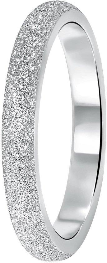 Lucardi - Stalen ring gediamanteerd