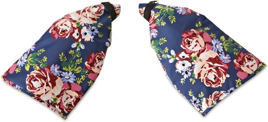 Basil Blossom Roses - Handwarmers - Set - Blauw / Wit