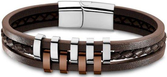 LOTUS - Armband - Mannen - LS1838-2/3 - Urban - Armband 3-rijig bruin