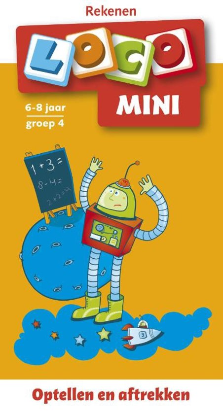 Boek cover Mini Loco. Rekenspelletjes. Optellen en aftrekken (6-8 jaar) van Onbekend (Paperback)