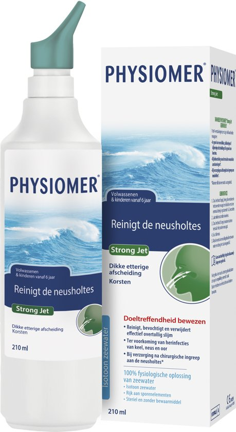 Physiomer Strong Jet - Neusspray bij verkoudheid en nasale operaties - 210ml