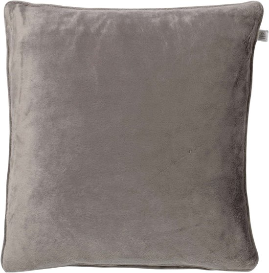 Dutch Decor Velvet Sierkussen - 45x45 cm - Taupe
