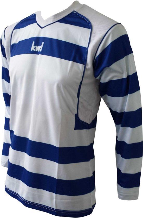 KWD Shirt Desperado lange mouw - Blauw/wit - Maat XL