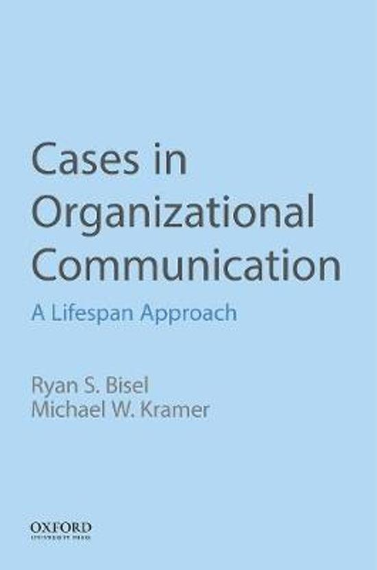 Cases in Organizational Communication