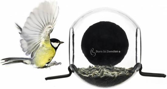 Uitzonderlijk bol.com | Born In Sweden Birdfeeder Raamvoederhuisje - Transparant BA17