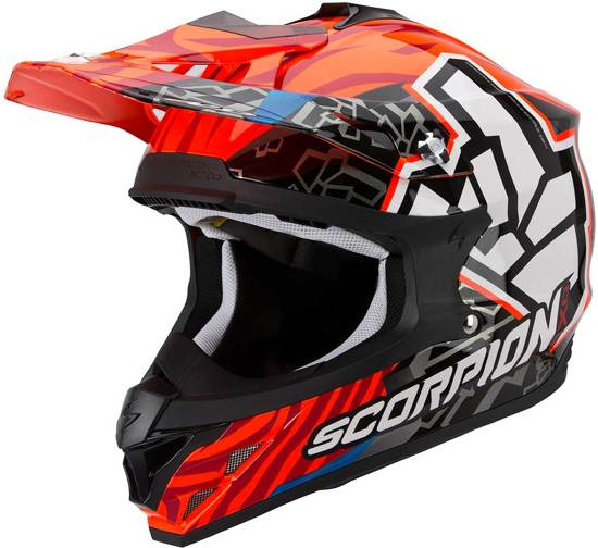 Scorpion Crosshelm VX-15 Evo Air Rok Bagoros Fluor Orange-M