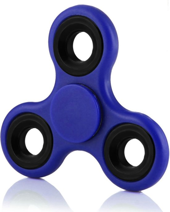 Hand Fidget Spinner Blauw - met hoogwaardige keramische lagers