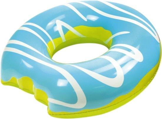Didak zwembad Opblaasbare Luchtmatras - Mega Blauwe Donut 108 Cm - Opblaasfiguur