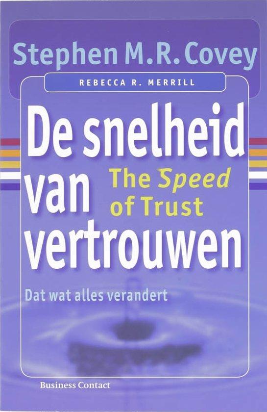 Boek cover De snelheid van vertrouwen van Stephen M.R. Covey (Paperback)