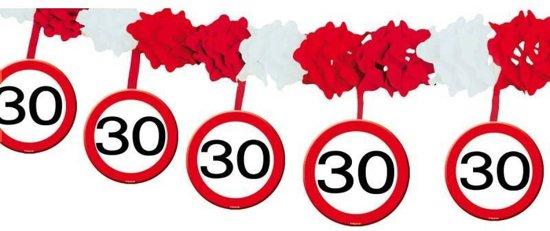 slingers 30 jaar bol.| 30 Jaar Verkeersbord Slinger met Onderhanger, Folat  slingers 30 jaar