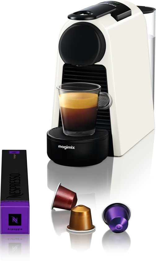 nespresso magimix essenza mini m115 koffiemachine pure white. Black Bedroom Furniture Sets. Home Design Ideas
