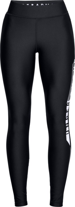 Under Armour HG Armour Graphic Legging Dames Sport Legging - Zwart - Maat XL