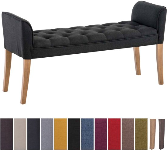 Clp Cleopatra - Chaise longue - Stof - donkergrijs antiek donker