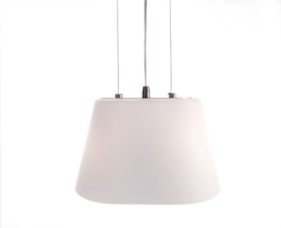 bol.com | Zoomoi Yasmin| hanglampen woonkamer glas | eetkamer | wit ...