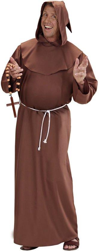 Monnik & Pater & Priester Kostuum   Stijlvolle Kapucijner Monnik Kostuum Man   XL   Carnaval kostuum   Verkleedkleding