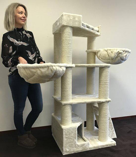 Krabpaal Corner Coon Creme Beige voor grote katten van RHRQuality