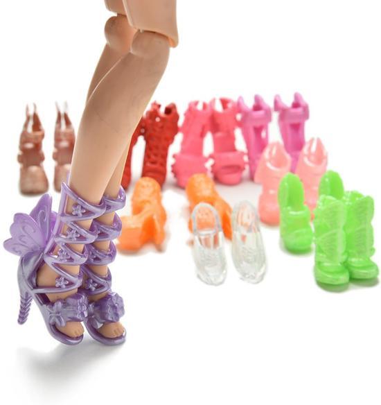 10 paar luxe schoenen voor Barbie - Sprookjes, Feeën pumps, Originele designs