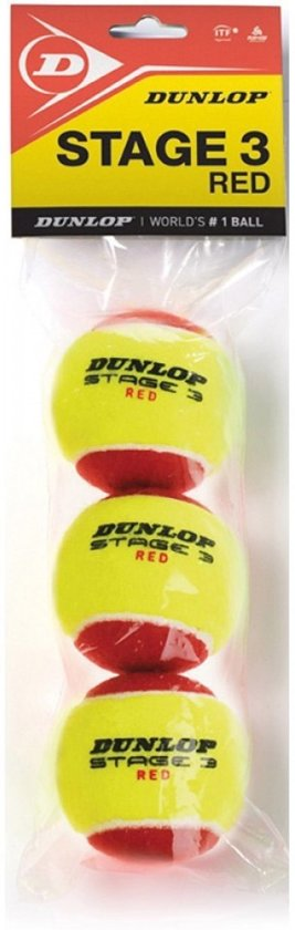 Dunlop STAGE 3 RE3POLYBAG - Geel/Rood - Tennisballen
