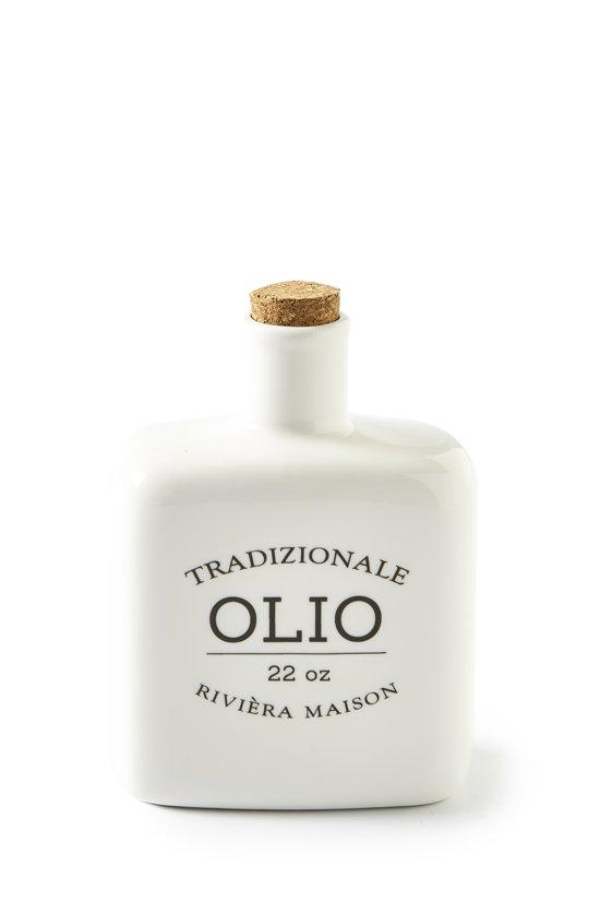 Uitgelezene bol.com | Rivièra Maison Olio Flask - Oliefles - Wit FS-79