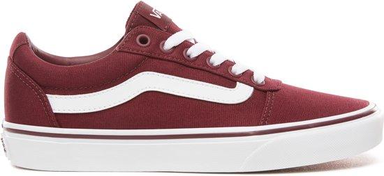 Vans Wm Ward Dames Sneakers - (Canvas) Burgundy - Maat 38.5