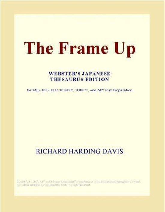 bol.com | The Frame Up (Webster\'s Japanese Thesaurus Edition) (ebook ...