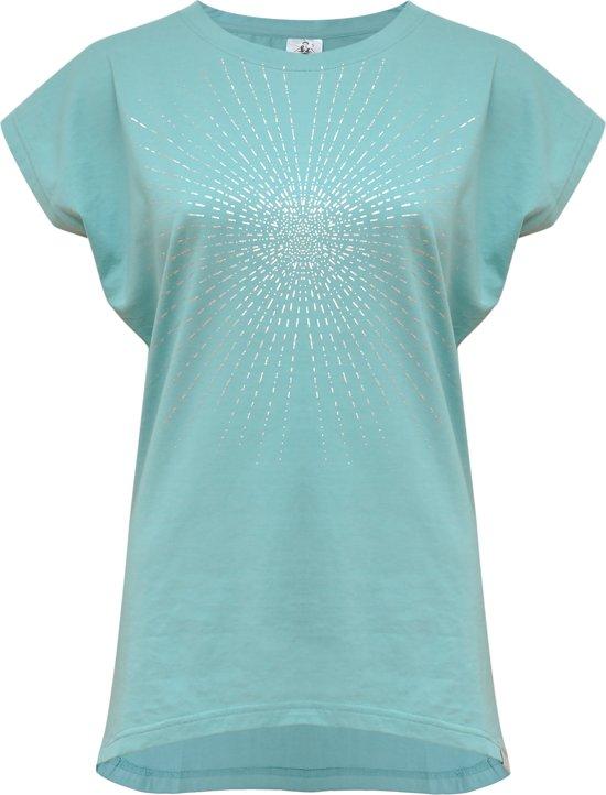 "Yoga-T-Shirt ""Batwing sunray"" - mint/silver M Loungewear shirt YOGISTAR"
