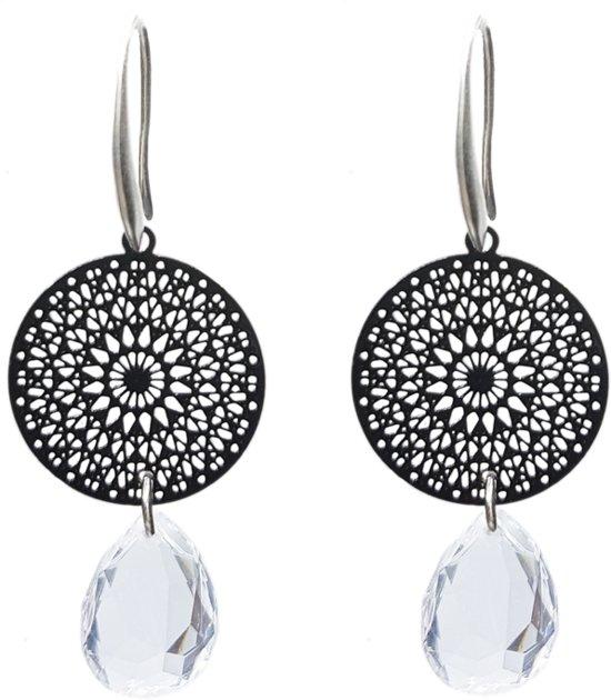 TABOO dames oorbellen NOLA Zwart Crystal
