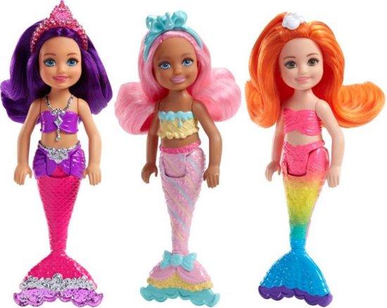 Barbie Mini Mermaid - 1 stuk willekeurig gekozen uit assortiment van 3