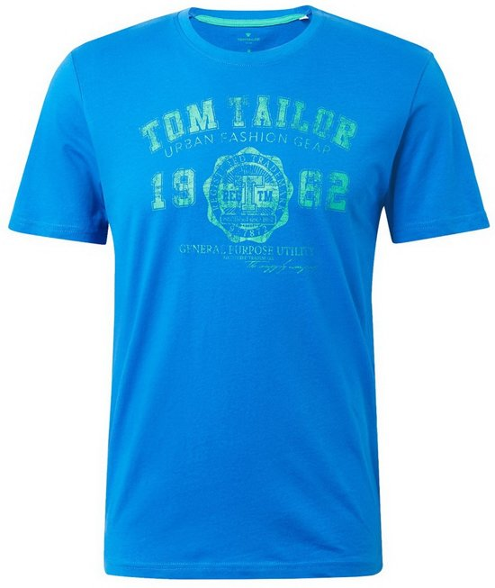 Tom Tailor - Heren T-Shirt - Ronde Hals - Blauw