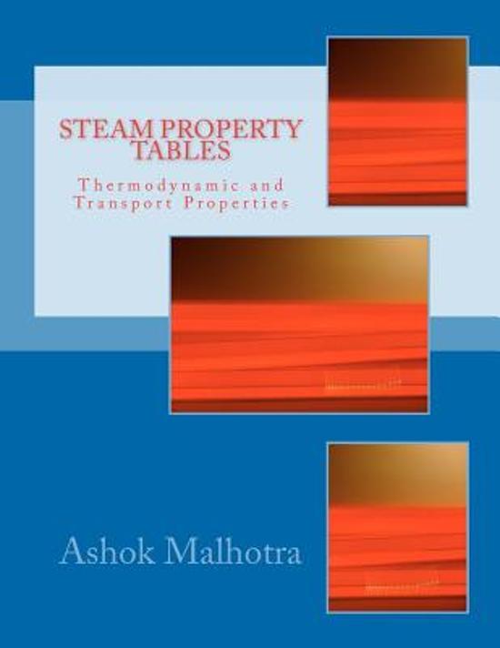 Boek cover Steam Property Tables van Ashok Malhotra (Paperback)