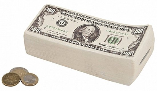 Spaarpot dollar biljetten 16 cm