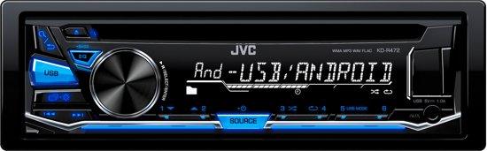 JVC KD-R472 - Autoradio enkel DIN - USB - CD - Blauw