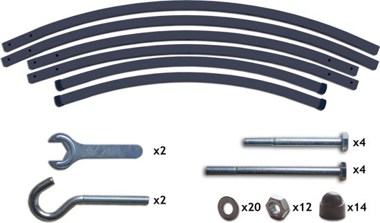 Potenza Prime - Tweepersoons hangmatset /Hangmat met standaard - Aluminium