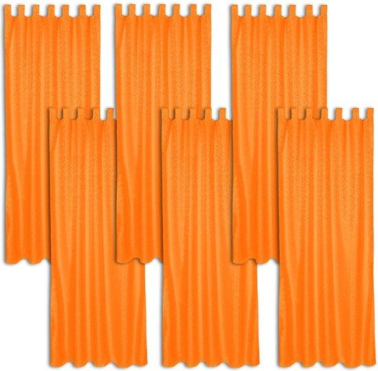 tectake kant en klaar gordijn met lussen oranje 401895 245x137 cm 6