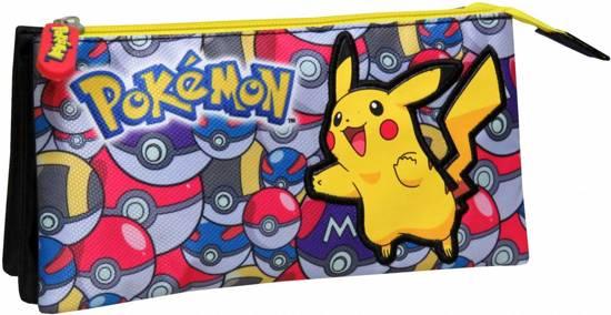 Pokemon PokeBalls - Etui 3 vakken - 22 cm - Multi