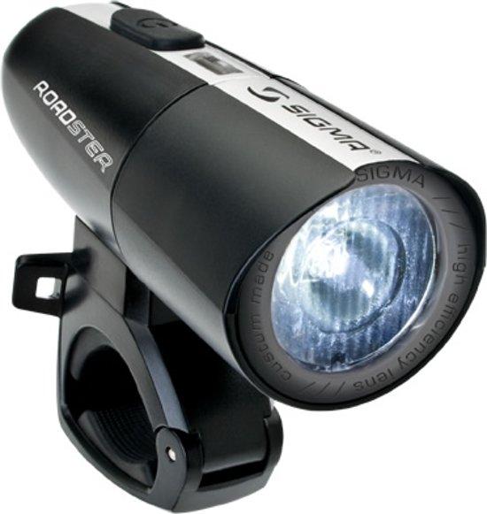sigma roadster koplamp fiets led batterij zwart