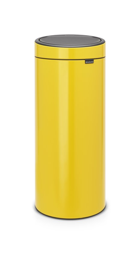 Brabantia Prullenbak 30 Liter Aanbieding.Brabantia Touch Bin New Prullenbak 30 L Daisy Yellow