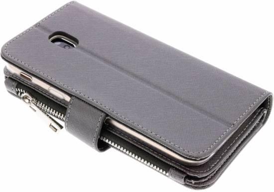 Gris Saffiano 9 Emplacements Cas De Porte-monnaie Pour Samsung Galaxy J5 (2017) iFJzGK