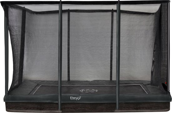 Etan Inground Premium Gold Combi Trampoline set 281 x 201 cm - inc. Veiligheidsnet - Groen - Rechthoekig