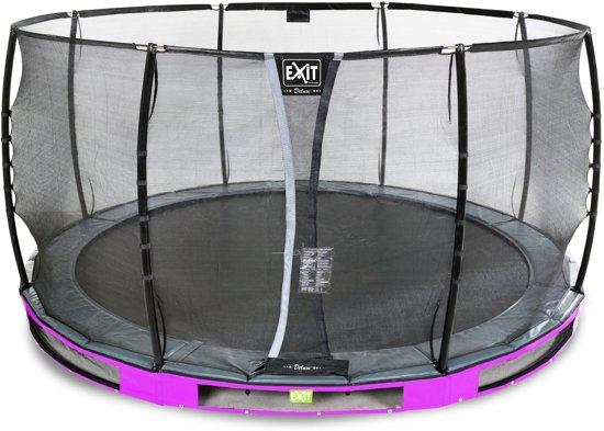 EXIT Elegant Premium Inground Trampoline à 450 cm met Deluxe Veiligheidsnet