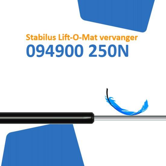 Vervanger voor Stabilus Lift-O-Mat 094900 0250N gasveer