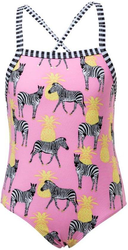 Snapper Rock UV Badpak - Zebra Crossing - Roze - maat 152-158