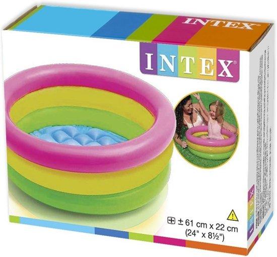 Intex Opblaasbaar Zwembad Sunset Glow 61 cm - Baby Zwembad