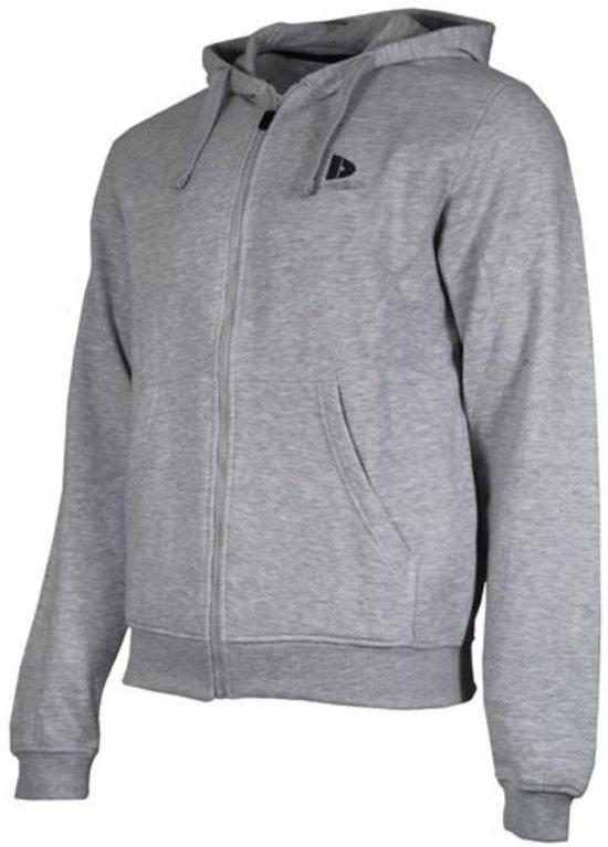 1427d79b7dd140 Donnay sweater met capuchon - Sportvest - Heren - Maat L - Licht grijs  gemêleerd