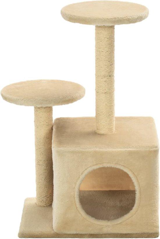 vidaXL Kattenkrabpaal met sisal krabpalen 60 cm beige
