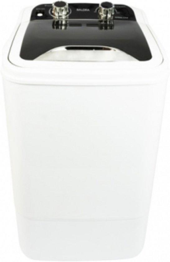 Salora Mini kleine compacte Wasmachine Zwart/Wit - camping was machine - studenten - vakantie wasmachine -