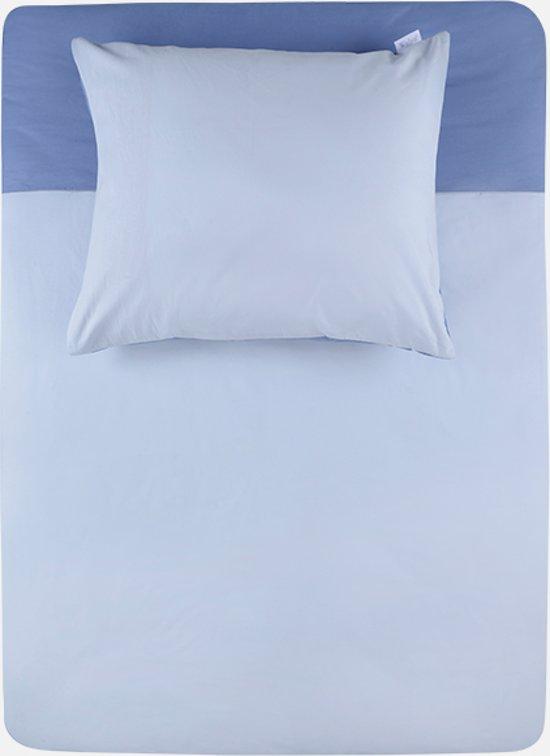 Walra uni - Dekbedovertrek - Blauw - Lits-jumeaux (240x200/220 cm + 2 slopen)